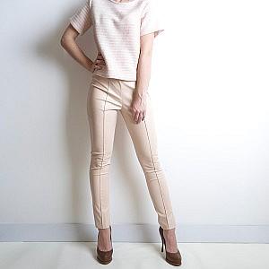 штаны розовые кожзам purity fashion studio