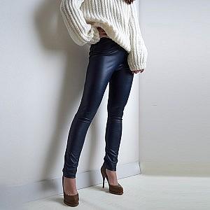 5/16_4 штаны темно синее экокожа purity fashion studio