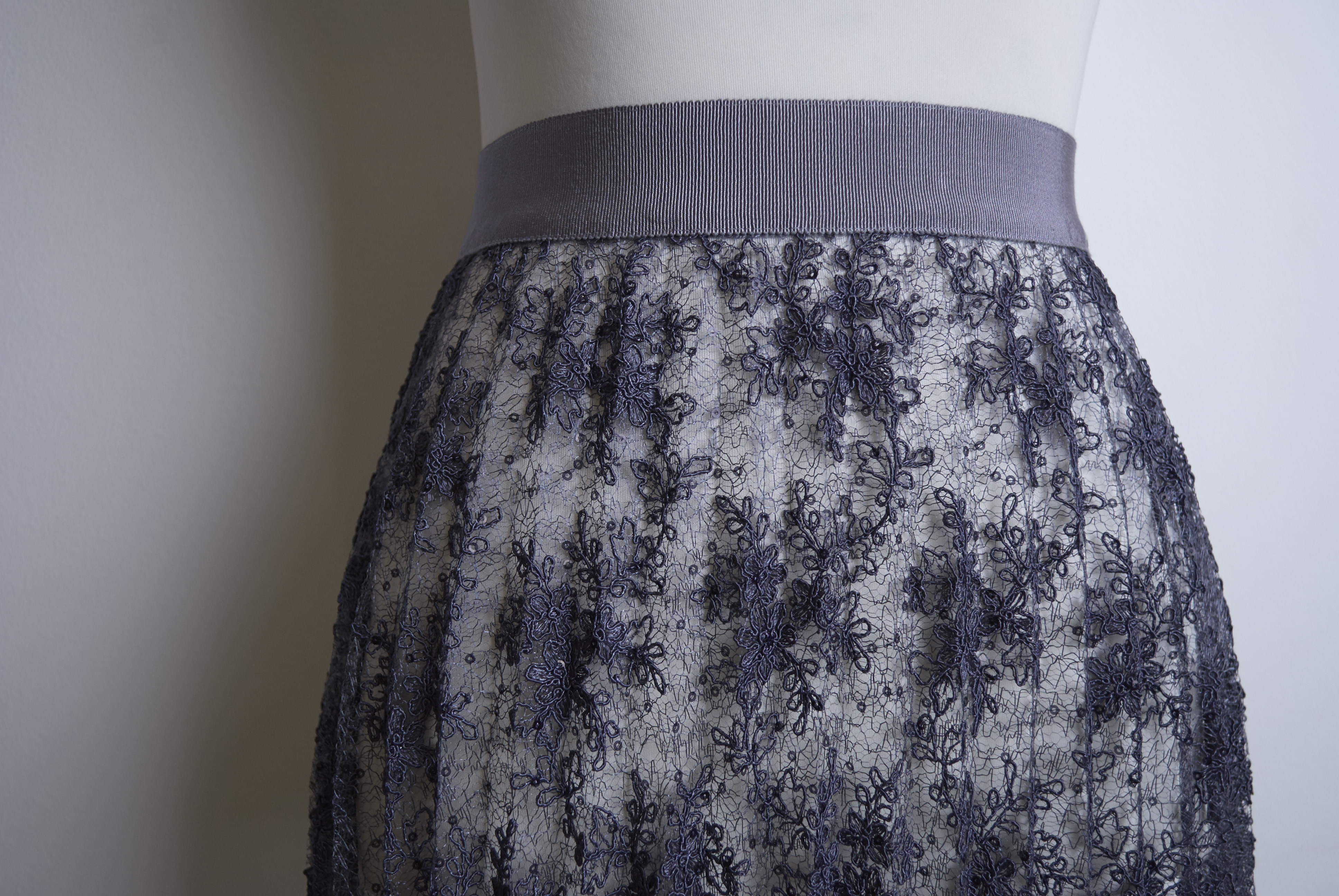 Пошив юбки из гофре