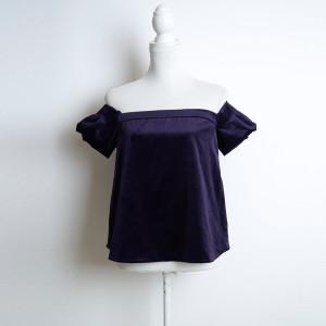 (42:16_2) велюровая топ-блуза фиолетовая purity_fashion_studio 5