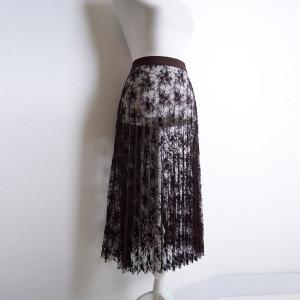 52:16_3 юбка гофре гипюр с блестками коричневая purity fashion studio 5